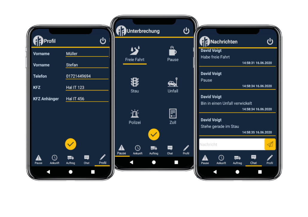 Yard Logistics, digitaler Hofprozess, mobile App